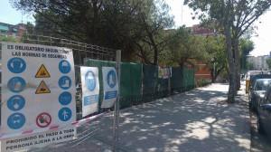 """Obras en la Instalación Deportiva """"Las Pilillas"""" a petición de C's Moratalaz"""