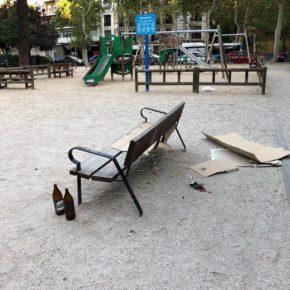 Ciudadanos Retiro solicita que se intensifique la limpieza en el parque de la plaza de los Héroes del Caney