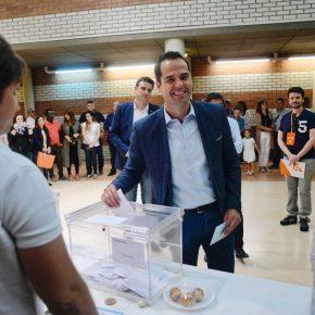"""Aguado: """"Animo a todos los madrileños a votar en estas elecciones porque nos jugamos el futuro de la Comunidad de Madrid"""""""
